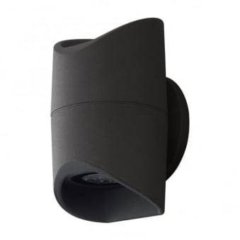 Abrantes IP44 LED Outdoor Wall Light in Anthracite