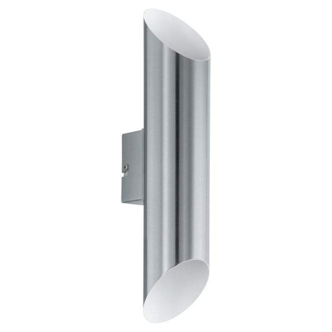 Eglo Agolada Outdoor IP44 LED Wall Light in Steel and White