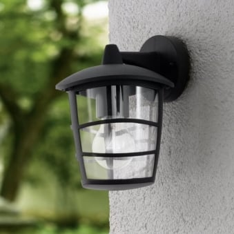 Aloria Black IP44 Exterior Cast Aluminium Down Wall Light