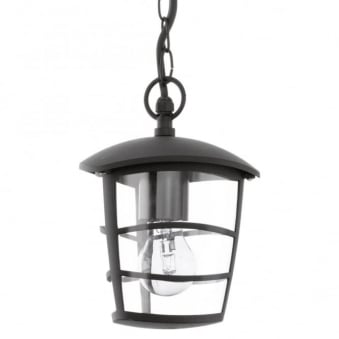 Aloria Black IP44 Exterior Cast Aluminium Pendant Light