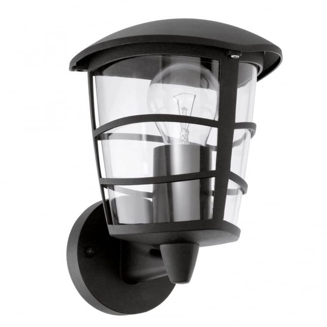 Eglo Aloria Black IP44 Exterior Cast Aluminium Up Wall Light