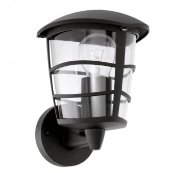 Aloria Black IP44 Exterior Cast Aluminium Up Wall Light