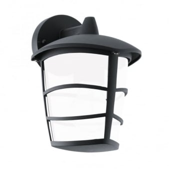 Aloria LED Black IP44 Exterior Cast Aluminium Down Wall Light