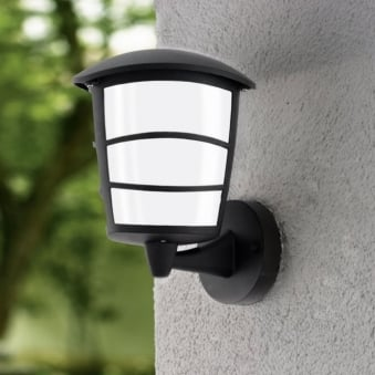 Aloria LED Black IP44 Exterior Cast Aluminium Up Wall Light