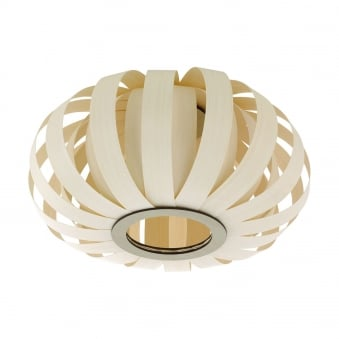 Arenella Bent Light Wood Ceiling Light