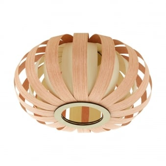 Arenella Bent Wood Ceiling Light