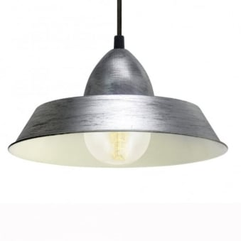 Auckland Antique Silver Steel Industrial Pendant Light