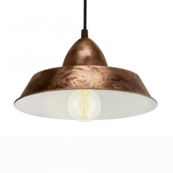 Auckland Coppery Steel Industrial Pendant Light
