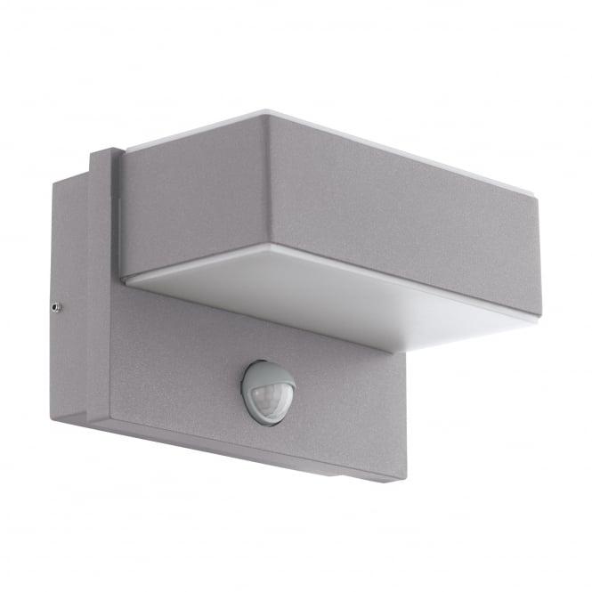 Eglo 97159 Azzinano Exterior Pir Wall Light In Silver