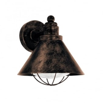 Barrosela Galvanised Steel IP44 Exterior Light in Antique Copper