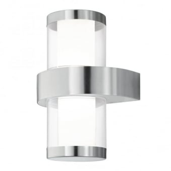 Beverly 1 LED IP44 Outdoor Wall Light in Stainless Steel