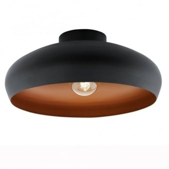 Black and Copper Mogano Ceiling Light