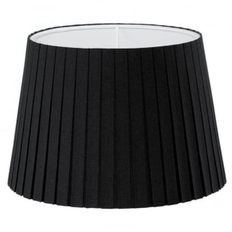 Black Pleated Drum 245 Shade