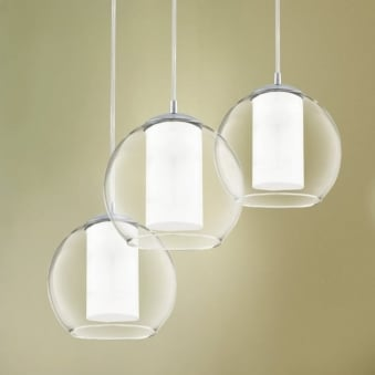 Bolsano Triple Glass Globe Pendant Light