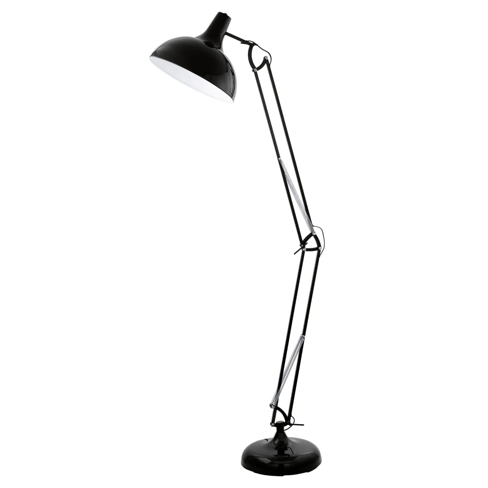 Eglo 94698 borgillio black floor lamp borgillio black floor lamp aloadofball Images