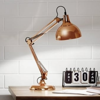 Borgillio Coppery Table Lamp