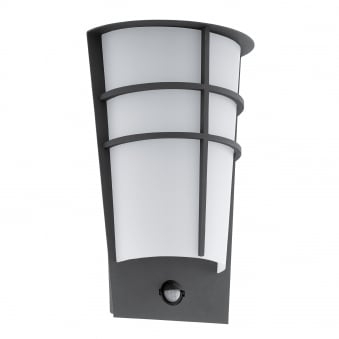 Breganzo 1 IP44 Outdoor PIR Wall Light in Anthracite