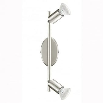 Buzz LED Double Spotlight in Satin Nickel