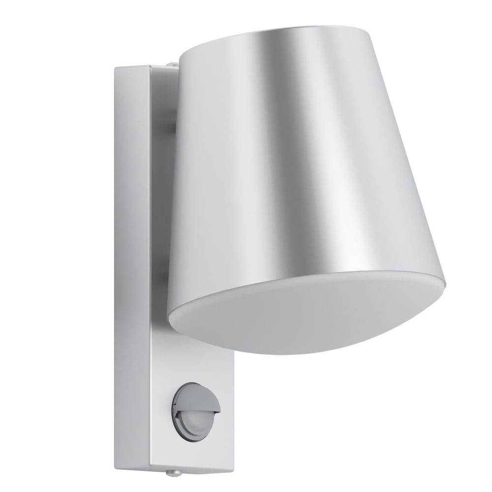 Eglo 97453 caldiero ip44 pir outdoor wall light in stainless steel caldiero ip44 pir outdoor wall light in stainless steel aloadofball Choice Image