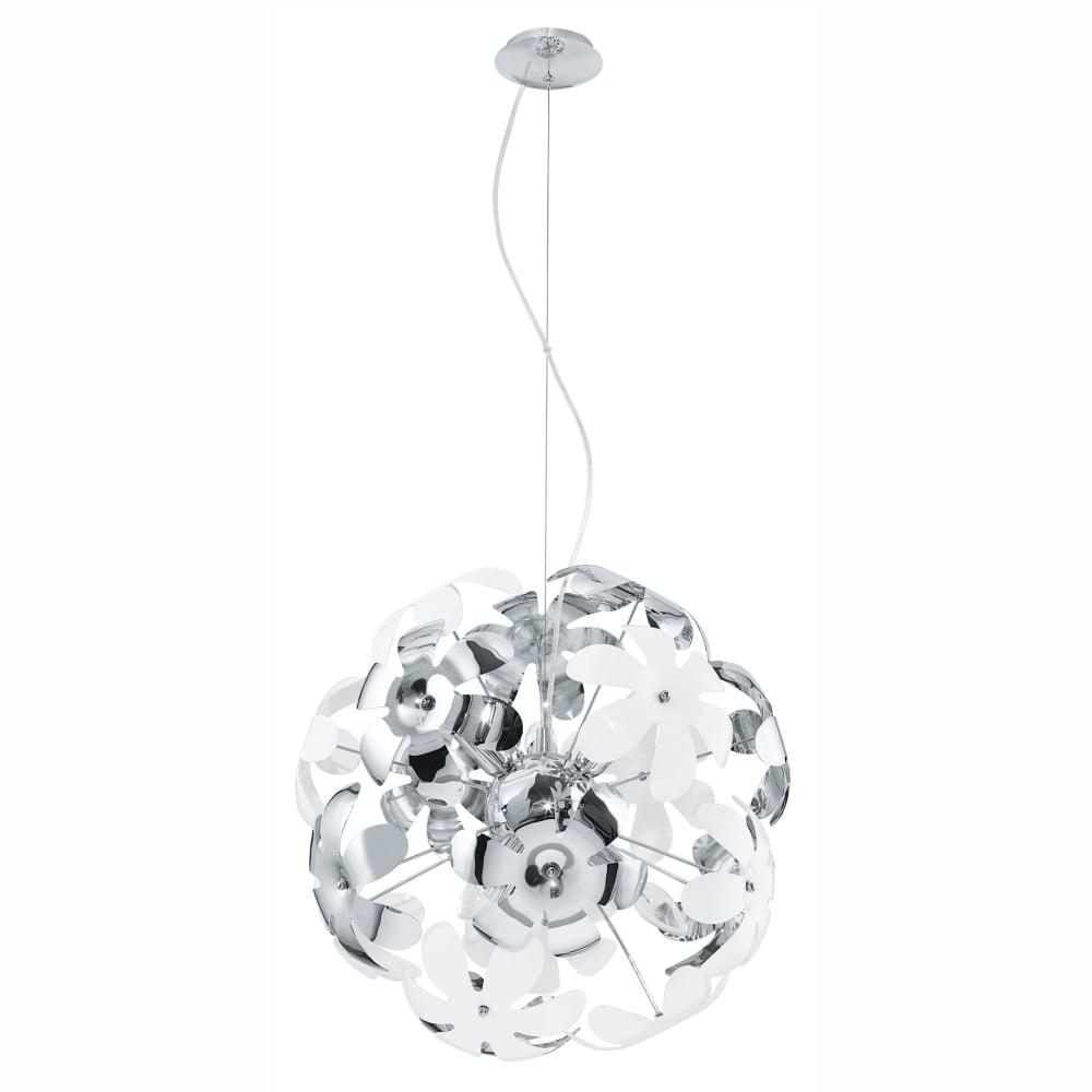 Eglo 92518 Camile White Flower Pendant Light