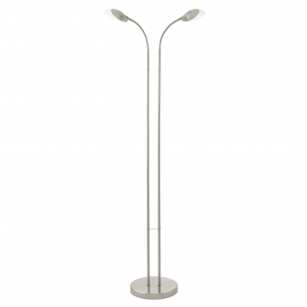 Canetal 1 LED Floor Lamp in Satin Nickel