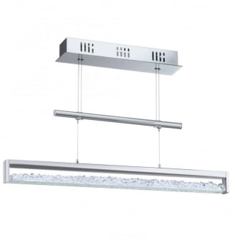 Cardito 30w LED Crystal Flexible Height with Drawbar Pendant