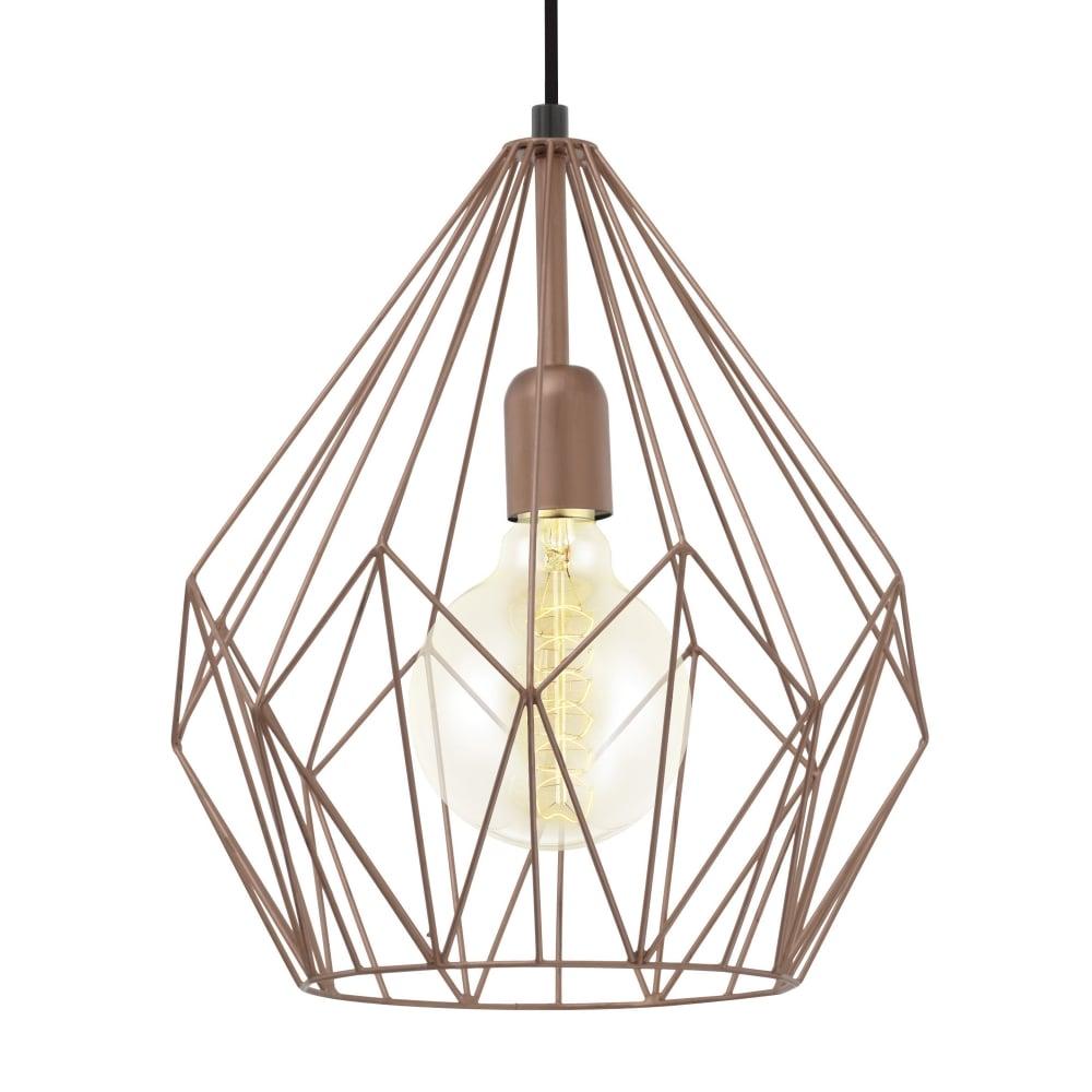 Carlton copper open cage pendant light