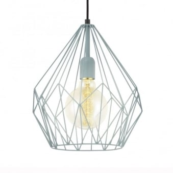 Carlton Pine Open Cage Pendant Light