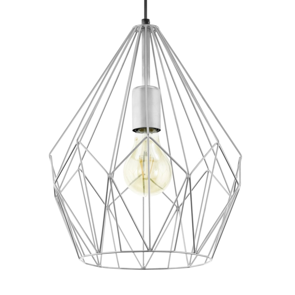 Eglo 49935 carlton silver open wire cage pendant light carlton silver open wire cage pendant light aloadofball Image collections