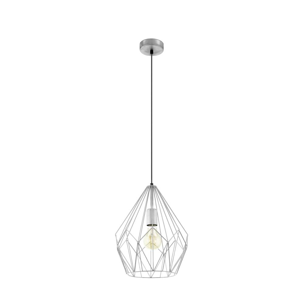 Eglo 49935 Carlton Silver Open Wire Cage Pendant Light
