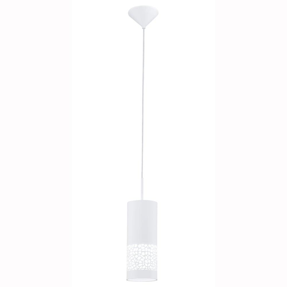 Carmelia Single Drop White Plastic Pendant Light