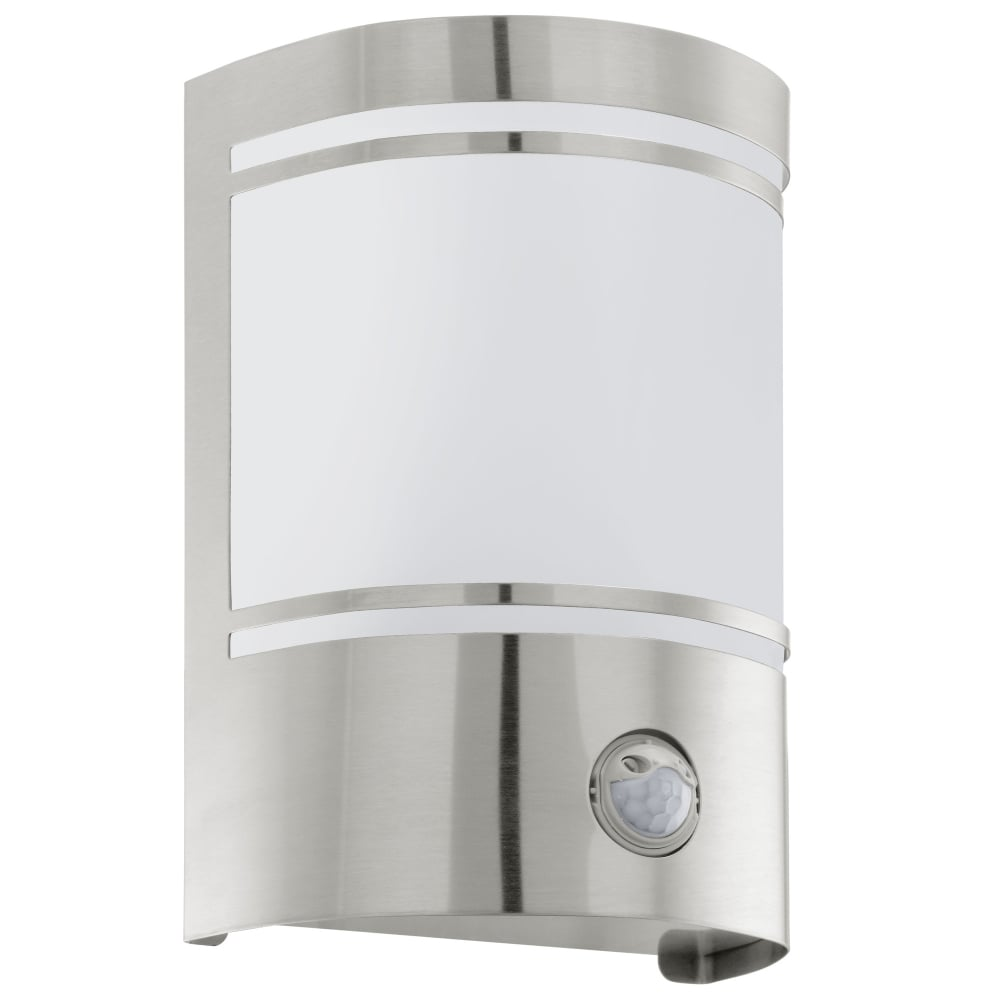Eglo 30192 cerno pir outdoor ip44 stainless steel wall light cerno pir outdoor ip44 stainless steel wall light mozeypictures Image collections