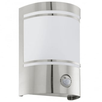 Cerno PIR Outdoor IP44 Stainless Steel Wall Light