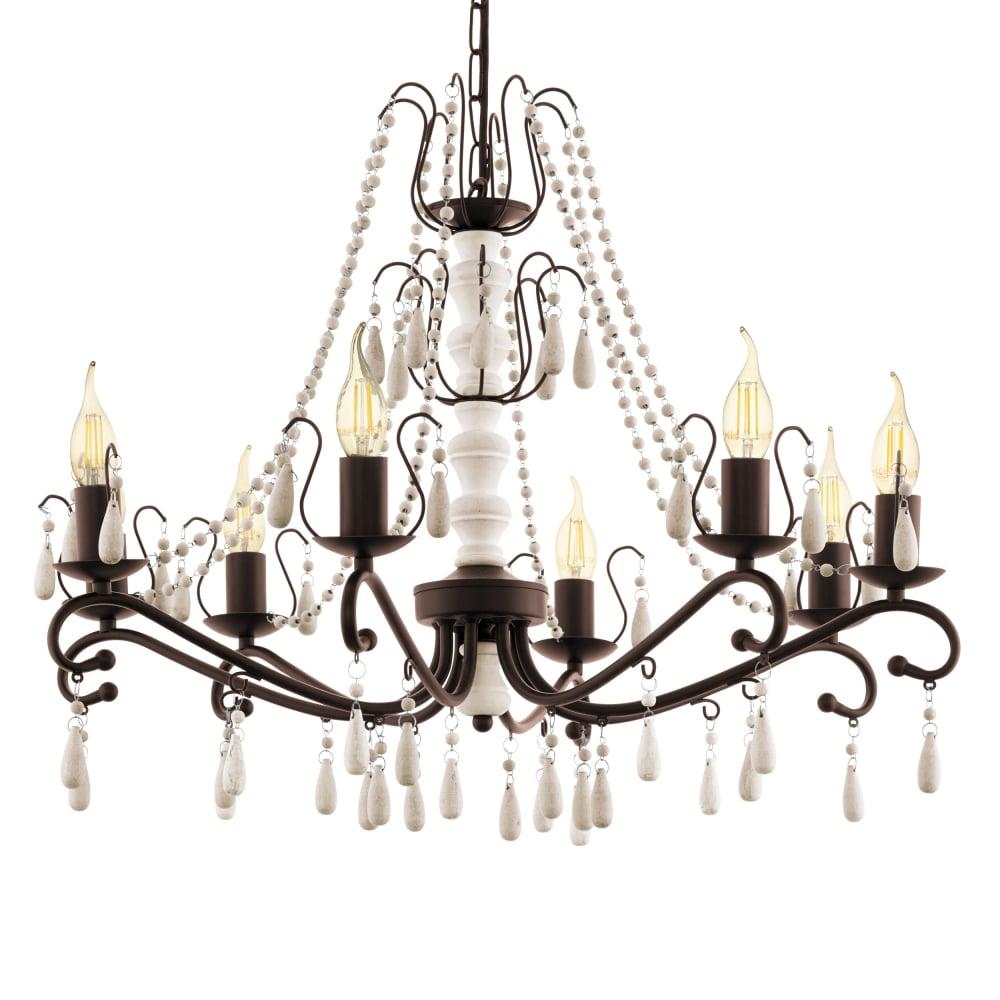 Eglo 49838 chattisham 8 arm chandelier pendant chattisham 8 arm chandelier pendant aloadofball Image collections