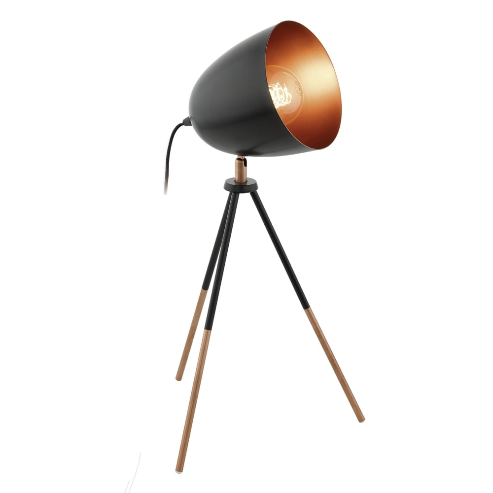 table com collet champagne made a lamp copper metallic in uk