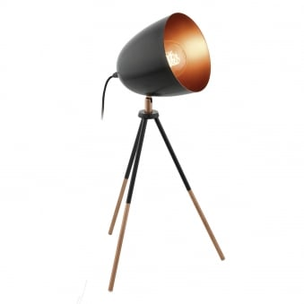 Chester Black and Copper Table Lamp