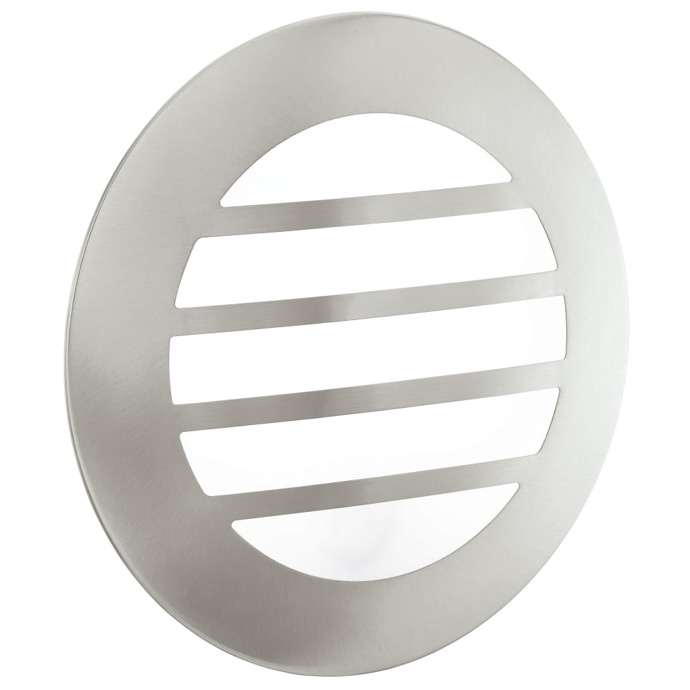 eglo 93267 city 2 led exterior recessed stainless steel wall light