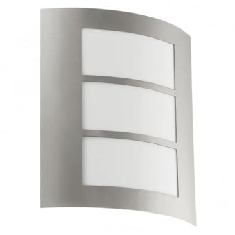 City Outdoor IP44 Stainless Steel Wall Light
