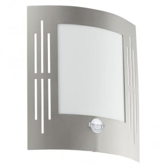 City PIR Outdoor IP44 Stainless Steel Wall Light