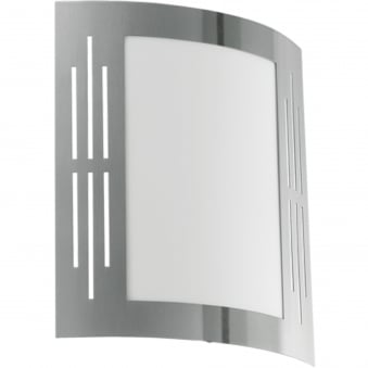 City Rectangle Window Outdoor IP44 Stainless Steel Wall Light