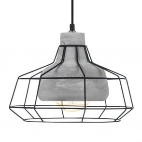Consett Steel and Concrete Large Pendant