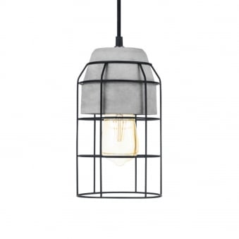 Consett Steel and Concrete Small Pendant