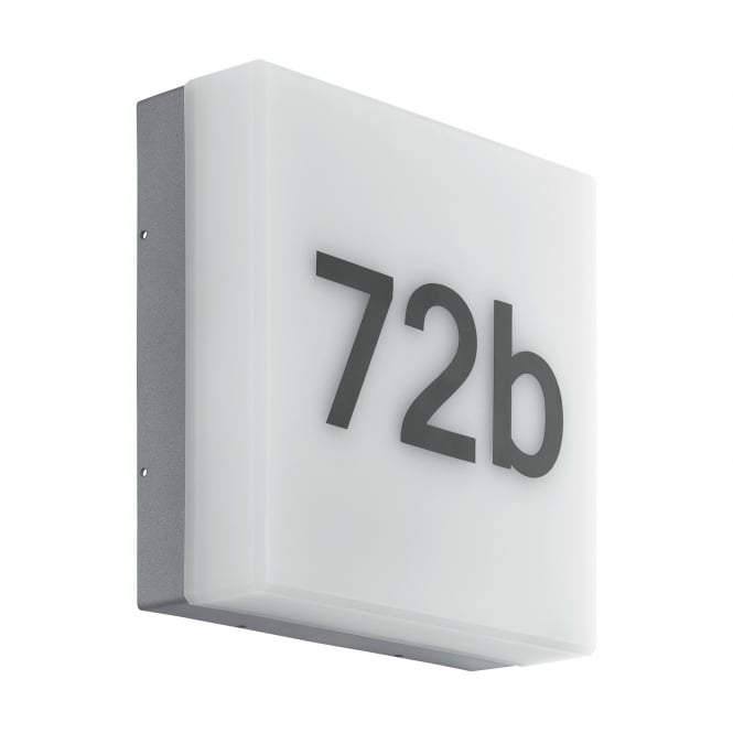 Eglo Cornale LED House Number Dusk Til Dawn Wall Light
