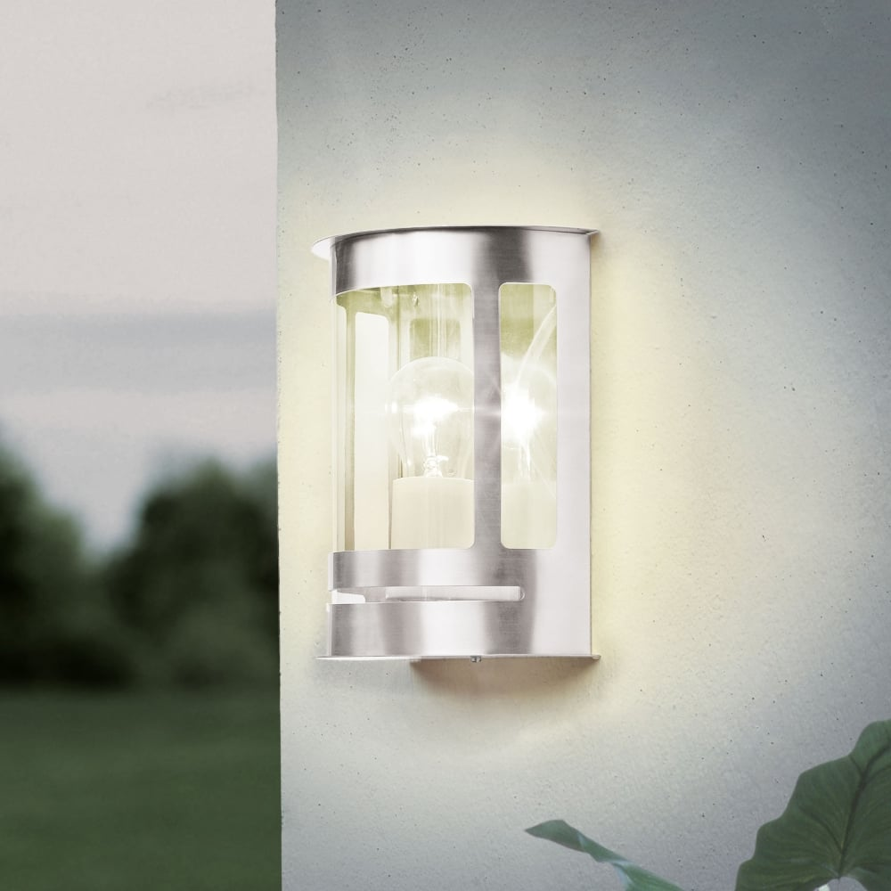 Eglo 30173 daril outdoor ip44 stainless steel wall light daril outdoor ip44 stainless steel wall light aloadofball Image collections