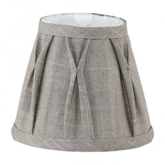 Decorative Linen Grey Tapered Drum Shade