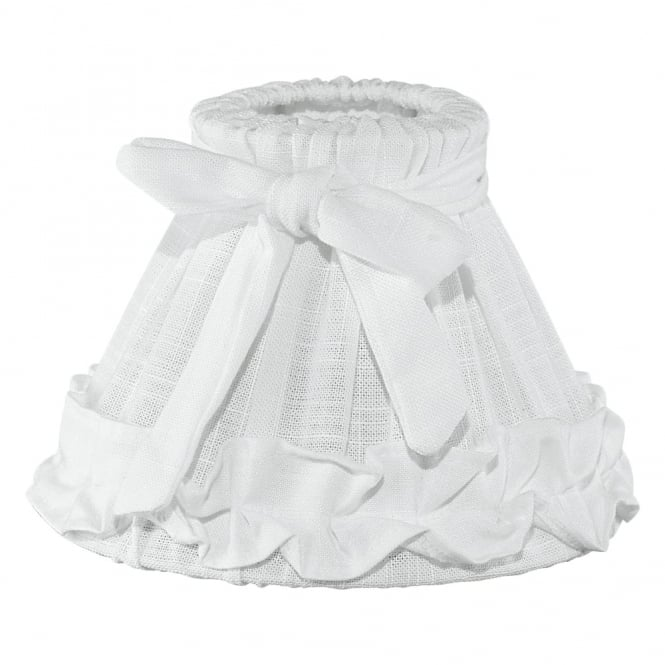 Eglo Decorative Linen White Frilled Drum Shade
