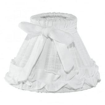 Decorative Linen White Frilled Drum Shade