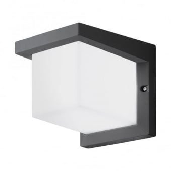 Desella 1 LED Exterior Wall Light in Anthracite