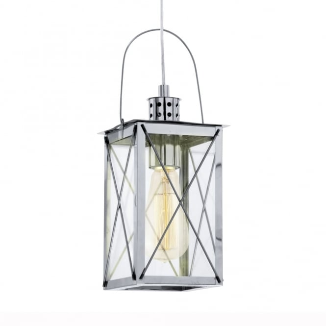 Eglo Donmington Chrome Lantern Style Pendant Light