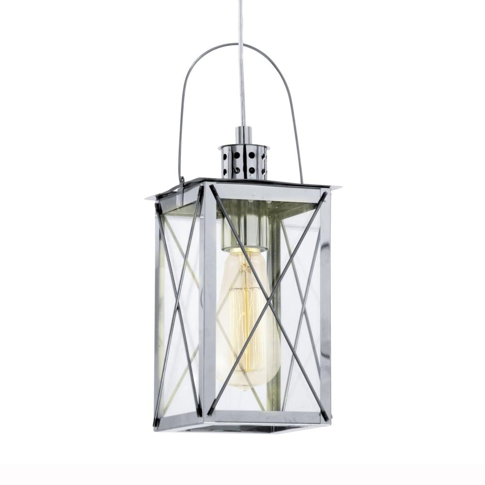 Eglo Donmington Chrome Lantern Style Pendant